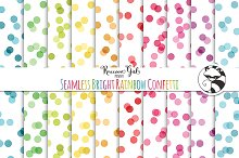 Seamless Bright Rainbow Confetti