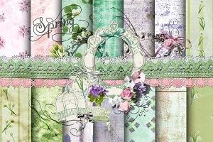 Shabby Spring Set