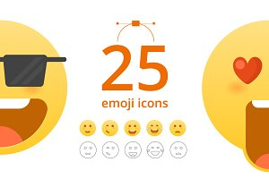 25 Vector Emoticon set