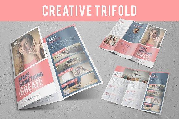 creative trifold brochure templates creative market