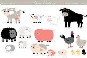Farm Animal Family Set