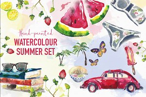 Summer watercolour set
