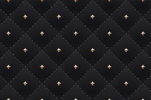 Seamless luxury dark black pattern
