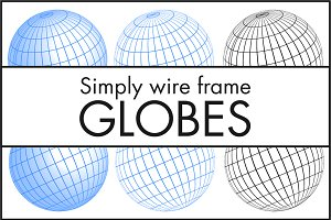 Simply Wire Frame Globes