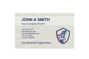 Business Card Template American Sold