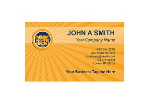 Business Card Template Bulldog Mongr