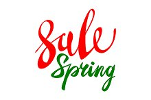Spring sale vector elements
