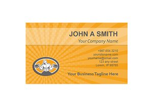 Business Card Template Bodybuilder L