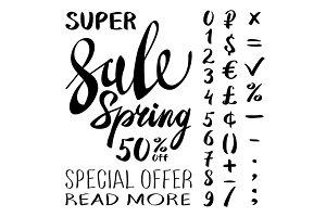 super Spring Sale Lettering