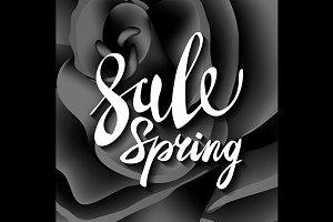 black roses. vector spring sale