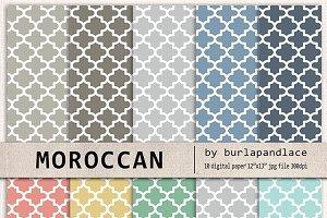 Quatrefoil Moroccan pattern