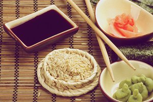 Ingredients to Preparing Sushi