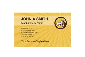 Business Card Template Doberman Pins