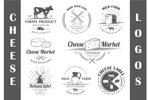 8 Cheese logos templates