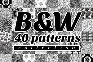 B&W 40 Patterns Collection