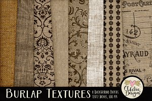 Burlap Texture Background Papers