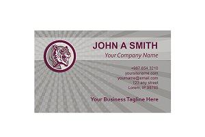 Business Card Template Tiger Head Gr