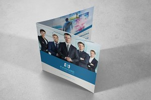 Corporate Square Bifold Brochure