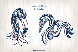 Wild Tattoo Vector Animal