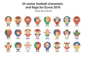 Football Characters Set