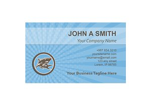Business Card Template Shark Swimmin