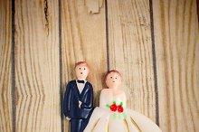 wedding bride and groom couple doll
