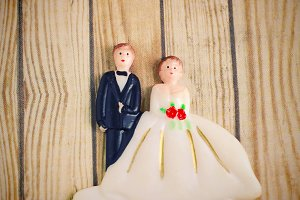 wedding bride and groom couple doll
