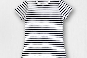 Striped womens t-shirt