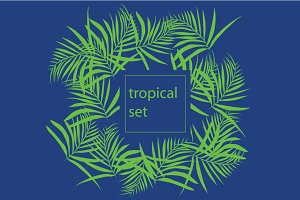 tropical set, background for text