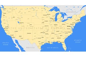 Detailed United States of America