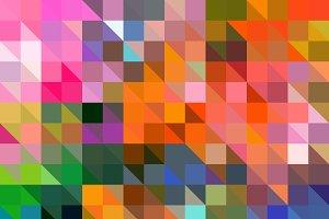 Triangle Pixel Mosaic Pattern