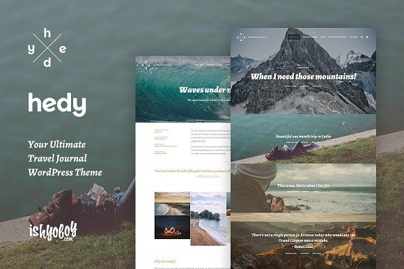 Hedy - WordPress Blog Traveler Theme