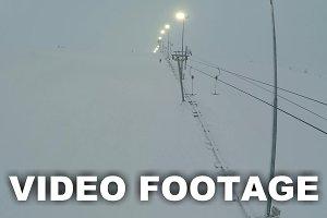 Aerial shot of ski lift