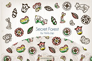 Secret Forest Vector Animal Pattern