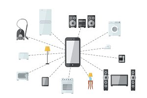 Internet of things flat illustration