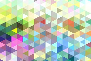 Light Colorful Triangle Pattern