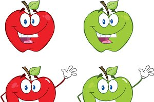 Red And Green Apple Collection - 3
