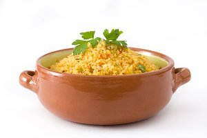 Couscous with vegetables.