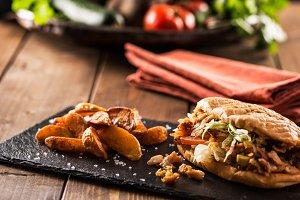 Tasty doner kebab