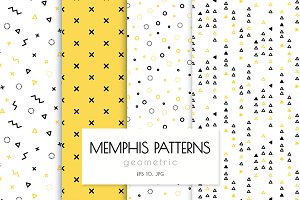 Memphis patterns geometric