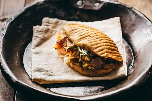 Doner kebab on a dish