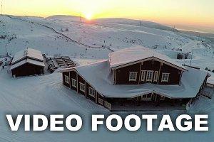 Flying over the winter ski centre