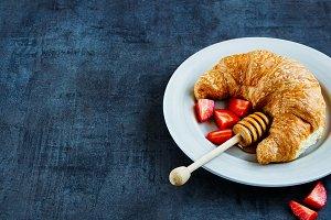 Fresh croissant for breakfast