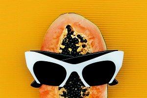 Papaya and white sunglasses