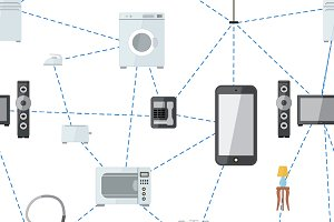 Internet of things flat pattern