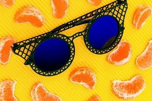 Fashion mix fruit and glass