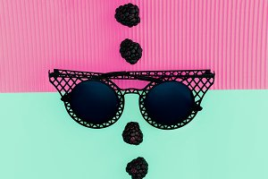Sunglasses and Blackberry