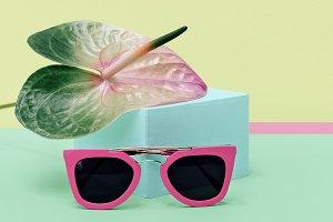 Pink stylish sunglasses