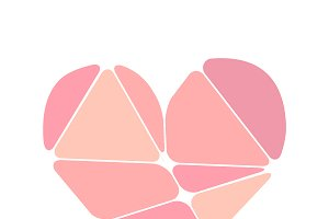 Complicated pink heart symbol