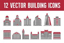 12 Vector Building Icons